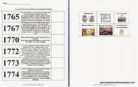 american revolution timeline worksheet worksheets releaseboard