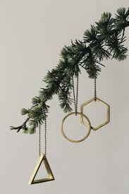 gift guide 10 geometric tree ornaments remodelista