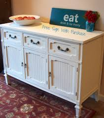 Antique White Sideboard Buffet by Old White Sideboard Buffet Urban Farmhouse Finishes