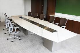 White Boardroom Table Modern Conference Table White Custom White Marble Stone Boat