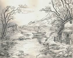 beautiful landscape sketch beautiful pencil sketches of landscapes