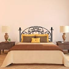 Wood And Wrought Iron Headboards Bedroom Design Charming Oak Wood And Black Wrought Iron Headboard