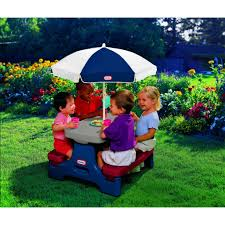 little tikes easy store jr picnic table little tikes picnic table with umbrella 50