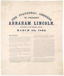 president lincoln u0027s second inaugural address 1865 the gilder