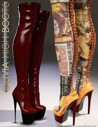 s high boots morphing high boots for genesis 3 s 3d models and