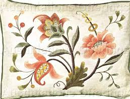 williams jacobean crewel embroidery kit canterbury pillow