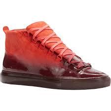 boot balenciaga red sneakers balenciaga arena high top sneakers