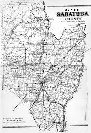 New York County Maps by Map Of Saratoga County Ny Atlas
