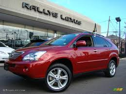 lexus rx red interior 2008 matador red mica lexus rx 400h awd hybrid 24901267