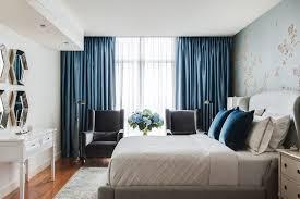 luxury bedroom curtains elegant modern blue curtains design on large windows of luxury