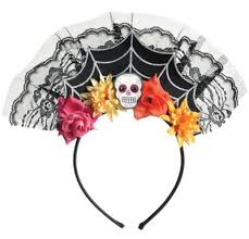 day of the dead headband day of the dead tiara headband party city