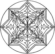 arabic koran star shape panel clipart etc