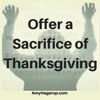 offer a sacrifice of thanksgiving the vitamin shepherd