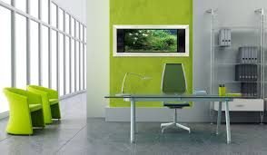 Modern Glass Desks For Home Office by Awesome Modern Home Office With Light Green Glass Desk Combined