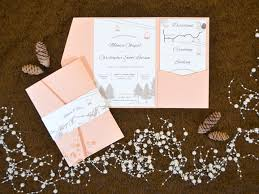 pocket wedding invitations twelve30 creative rustic mountain pocket wedding invitation