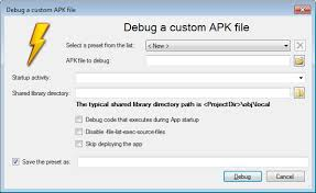 apk file debugging arbitrary apk files with visual studio visualgdb tutorials