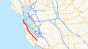 Palo Alto Zip Code Map by California State Route 35 Wikipedia
