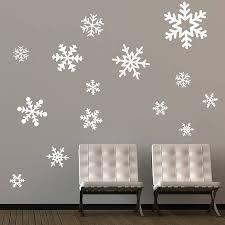 decorating ideas beautiful white winter theme christmas wall beautiful white winter theme christmas wall decoration ideas featuring wonderful snowflake wall stickers