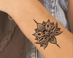 2 mandala temporary tattoos mandala lotus floral tattoo