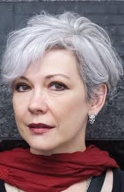 funky hairstyle for silver hair not too short not too long hairstyles for older women