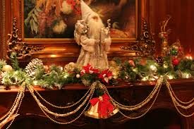 christmas decorations mantle garland staircase my sideboard nola