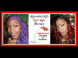 nuface trinity red light reviews rejuvalite md anti aging light therapy system review demo youtube