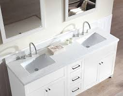 Vanity Bathroom Tops White Carrara Marble Bathroom Vanity Top With Integrated