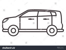 car hatchback linear styleicons vehicletransportation outline