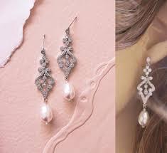 crystal bridal earrings art deco wedding earrings chandelier