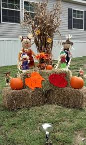 fall decorations for outside set up beside porch to the right make pumpkins with plywood buy