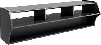 Wall Mounted Entertainment Console Wall Mount Black Tv Media Console Floating Storage Entertainment