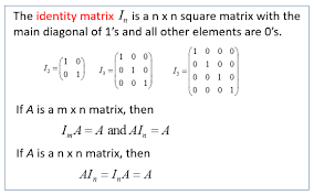 zero identity and inverse matrices solutions examples videos