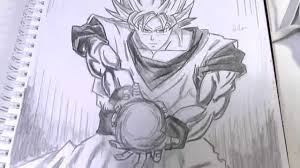 easy pencil sketches dragon ball goku drawing sketch