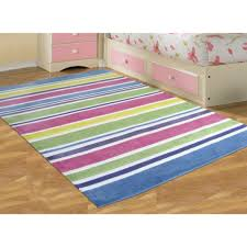 pastel coloured stripes childrens floor rugs free shipping