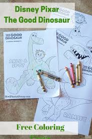 disney pixar the good dinosaur coloring pages
