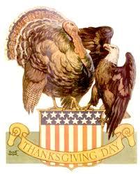 vintage thanksgiving clip patriotic bald eagle and turkey