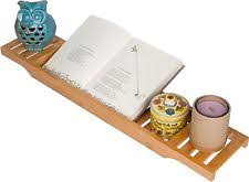 Bathtub Book Tray Bamboo Large 70cm Long Slatted Bathtub Tray By Trademark