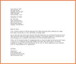 5 sample resignation letter nurse resignition letter