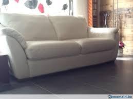 canapé cuir blanc 3 places grand canapé cuir blanc 3 places convertible alvros a vendre