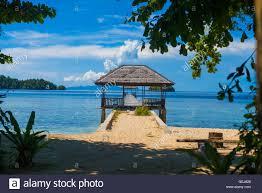 photo bungalow in indonesia village tropical beach in bali island