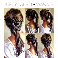 simple and easy hairstyles for medium length hair quick hair style topsy tail u2022 pony tail u2022 updo u2022 fall hairstyle