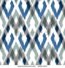 ikat seamless pattern design fabric stock vector 546314545