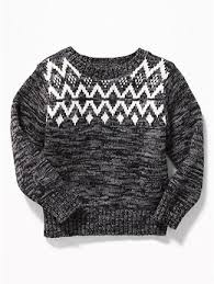 fair isle sweater for toddler boys navy