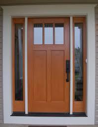 Oak Exterior Door by Front Doors Trendy Colors Craftsman Wood Front Door 125