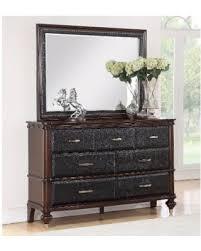 deal alert abbyson delano luxury leather dresser and mirror set