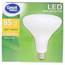 great value led soft white medium base br40 reflector walmart com