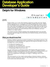 delphi database application developers book databases sql