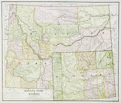 Western Montana Map by Map Of Montana Idaho U0026 Wyoming 1885 11 U201d X 13 U201d Multi Colored