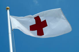 Blue And White Flag Cross What Does The Red Cross Mean