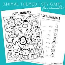printable animal activities animal themed i spy game free printable for kids spy games spy